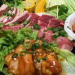 ディナータイムは焼野菜無料食べ放題!野菜が肉の旨みを引き出します。